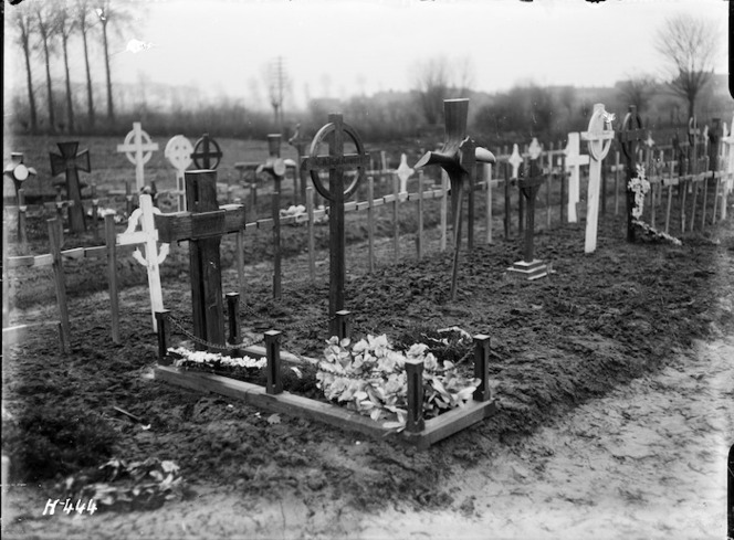 The grave of Brigadier General Johnston killed in 1917