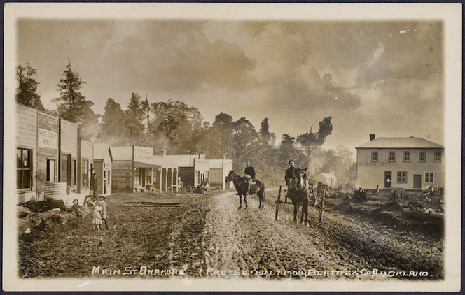 Main Street, Ohakune - Photograph taken by William Beattie and Company, Auckland