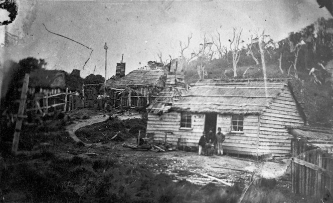 [Photographer unknown] :The kaiki at The Neck of Stewarts Isle [1860s?]