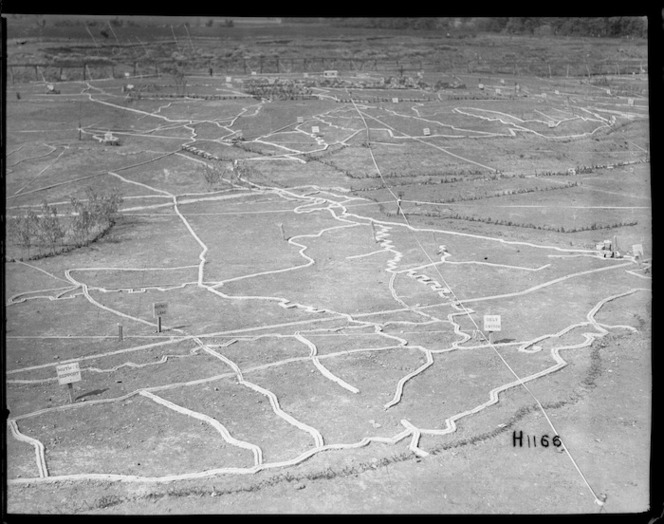 The large-scale maps at the New Zealand Divisional base in Etaples, World War I
