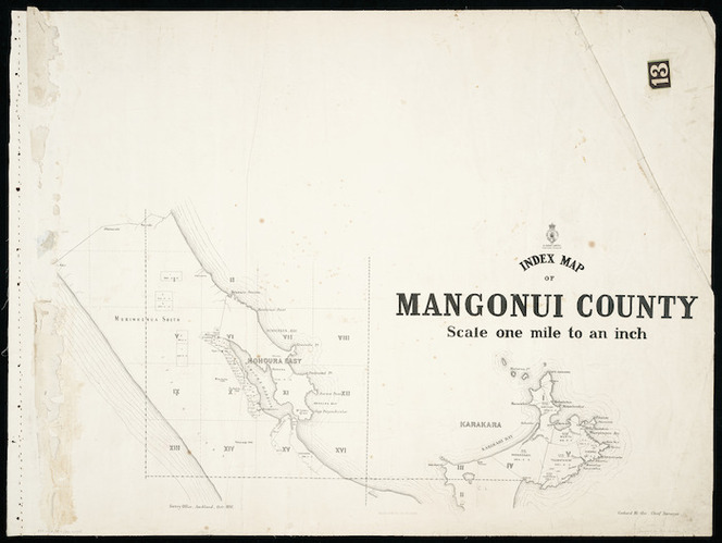 Index map of Mangonui County [cartographic material] / Gerhard Mueller, Chief Surveyor.