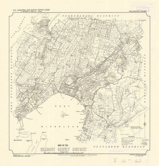 Map of the Belmont Survey District [electronic resource].