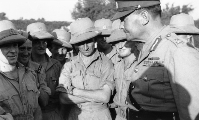 General Freyberg with New Zealand Soldiers