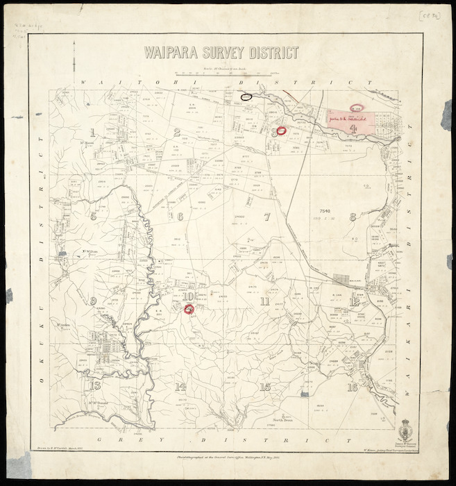 Waipara Survey District [cartographic material] / drawn by H. McCardell.