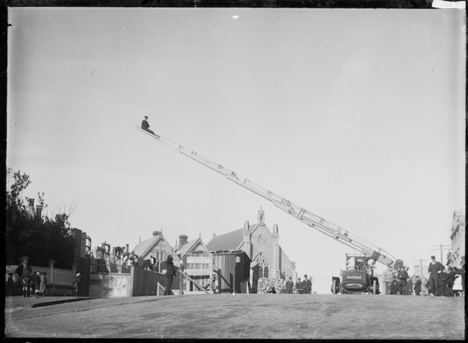 Auckland Fire Brigade at drill