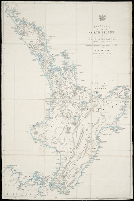 Chapman's map of the North Island of New Zealand [cartographic material].