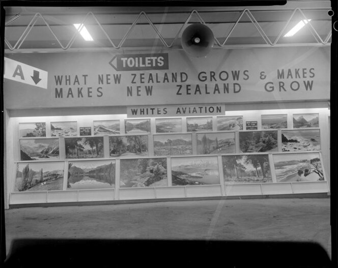 Whites Aviation display stand, Royal Easter Show, Auckland