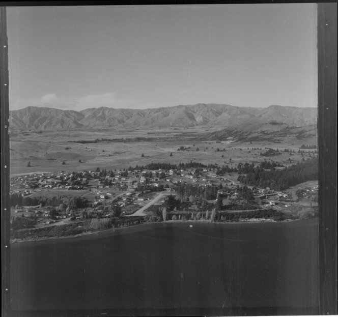 View over Lake Wanaka, towards township, Otago