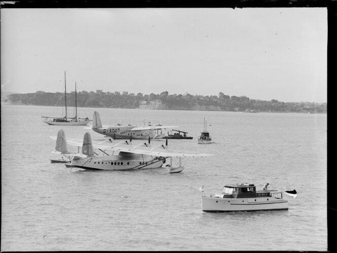 Seaplane Centaurus, Imperial Airways Ltd, in the harbour