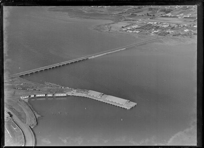 Mangere bridge and Onehunga wharves, Auckland