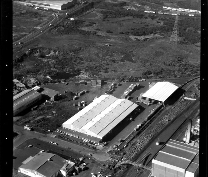 Factories, including New Zealand Freighters, in Penrose/ Otahuhu industrial area, Manukau City, Auckland