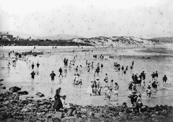 View of the beach at St Clair, Dunedin
