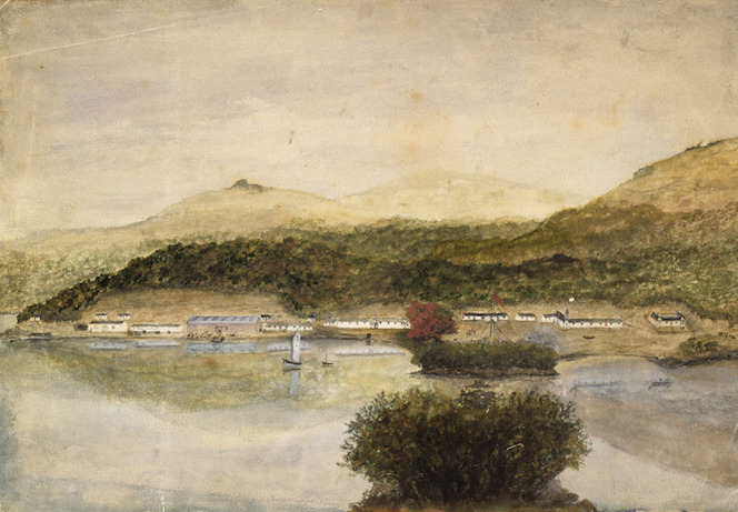 [Enderby, Charles] 1797-1876. Attributed works. :[Port Ross, Auckland Islands, Between 1850 and 1852?]