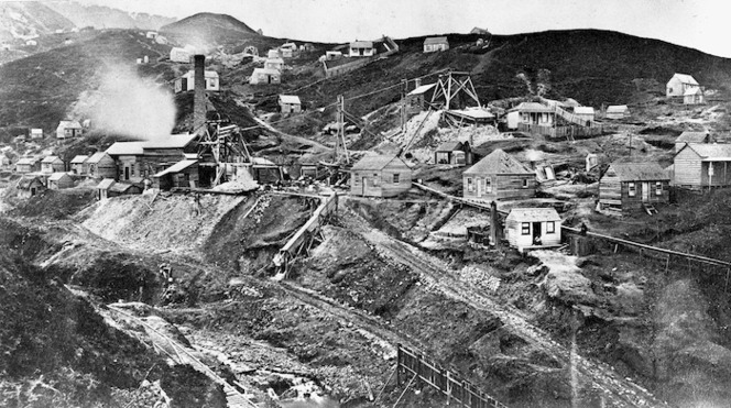 Caledonian gold mine and settlement, Moanataiari Valley