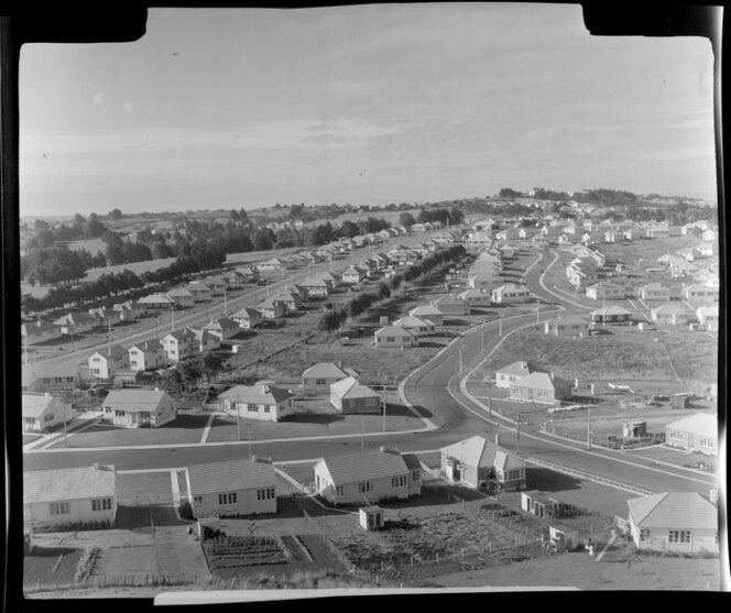Dominion Road extension, Mount Roskill, Auckland, including housing