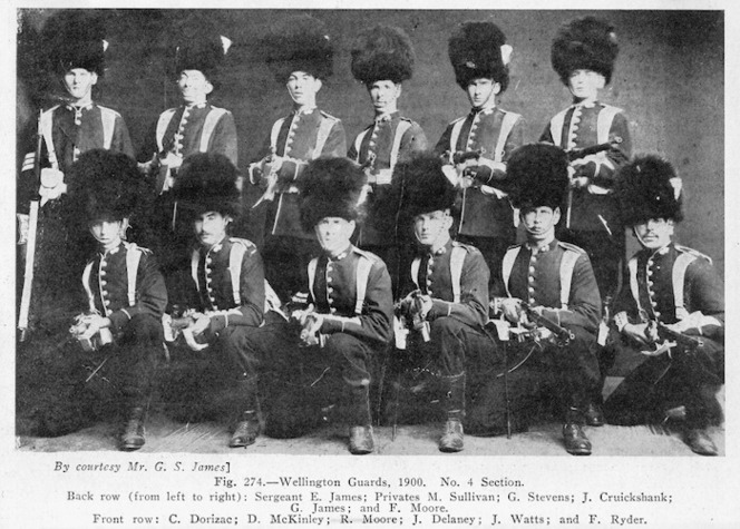 Photograph of Wellington Guards, 1900. No. 4 Section