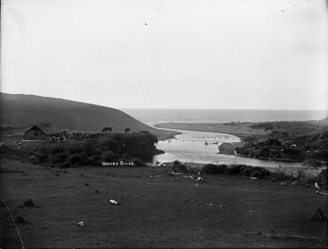 Oakura River and beach, Taranaki Coast