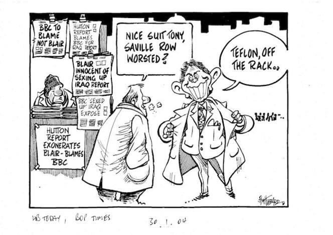 """Nice suit Tony, Saville Row Worsted?"" ""Teflon, off the rack.."" 30 January, 2004"