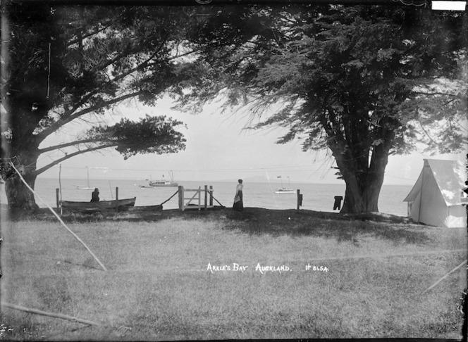 Camp site at Arkles Bay, Auckland