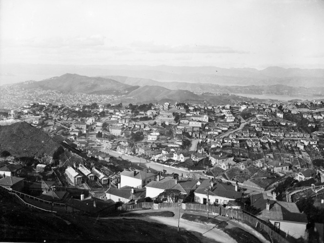 View over Brooklyn, Wellington, from Mitchell Street