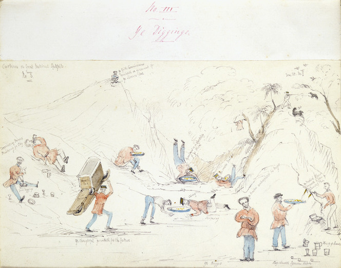 Heaphy, Charles 1820-1881 :Ye diggings. [1852]