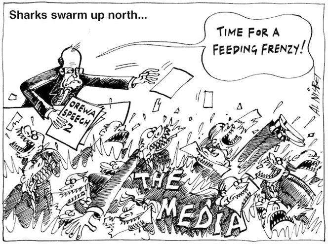 """Sharks swarm up north...""""Time for a feeding frenzy!"""" 28 January, 2005"""