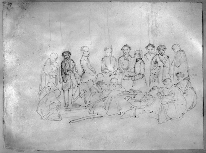 [Clarke, Cuthbert Charles] 1819-1863 :Baptism of Te Ngahue at Te Ariki Dec 29, 1849