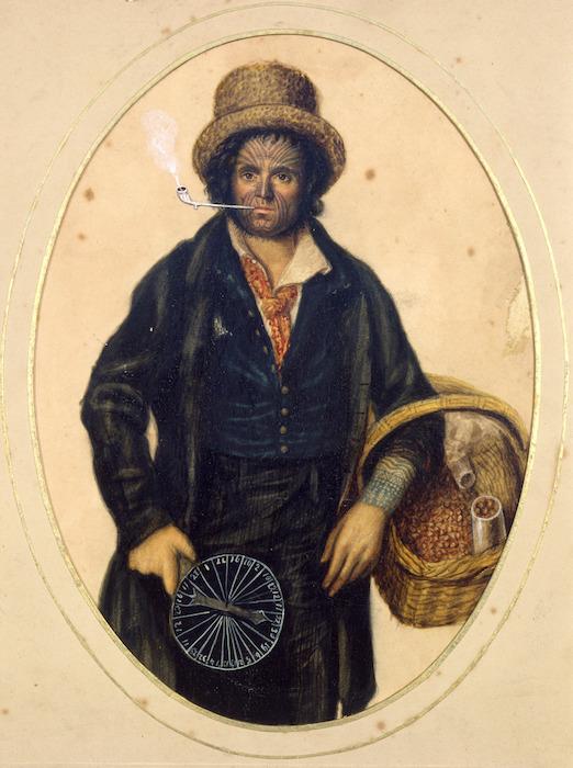 Dempsey, John Church, 1802-1877 (attributed): [Portrait of John Rutherford, the tattooed Englishman]
