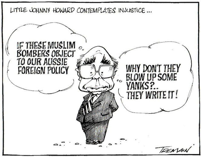 Little Johnny Howard contemplates injustice... 4 October, 2005.