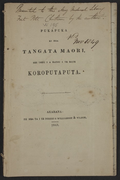 Thomson, Arthur Saunders, 1817?-1860 : Annotated pamphlet on small pox