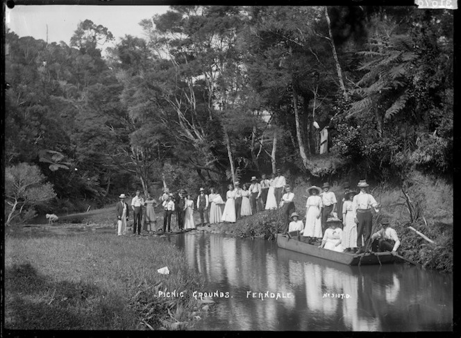 Group at picnic grounds, Ferndale