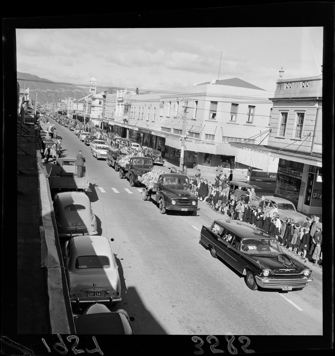 Funeral procession for Joseph Mitchell Huggan, the late mayor of Petone
