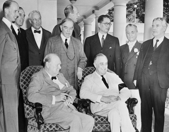 Pacific War Council during the mapping of the Pacific strategy, White House, Washington DC