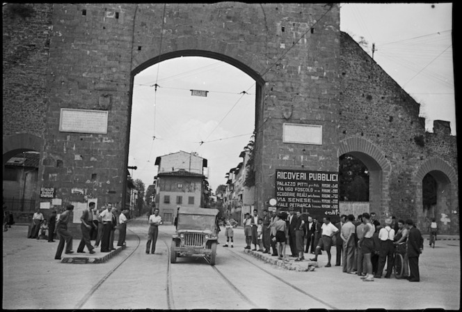 Looking towards the Porta Romana in southern Florence, Italy, in World War II - Photograph taken by George Kaye