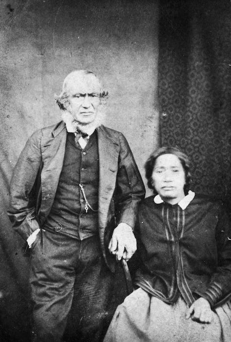 Mr James Heberley and his wife, Te Wai Heberley