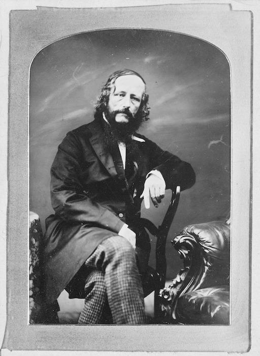 Crombie, John Nicol, 1827-1878 :Studio portrait of William Colenso