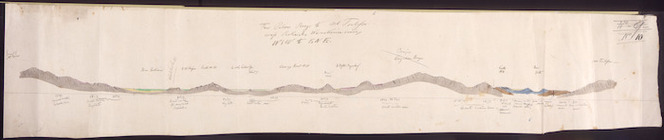 Haast, Johann Franz Julius von, 1822-1887: From Palmer Range to Mt Torlesse across Rakaia and Waimakariri Basins. No 10. [1860-1866?]