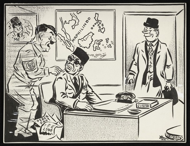"""Henderson, George Duncan, 1911-1985 :""""Mark my words, no Kiwi is the simple country lad he looks"""". 17 April 1964"""