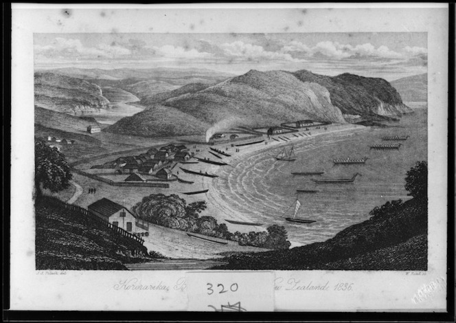 Polack, Joel Samuel, 1807-1882 :Kororareka, Bay of Islands, New Zealand. [London, Richard Bentley, 1838]