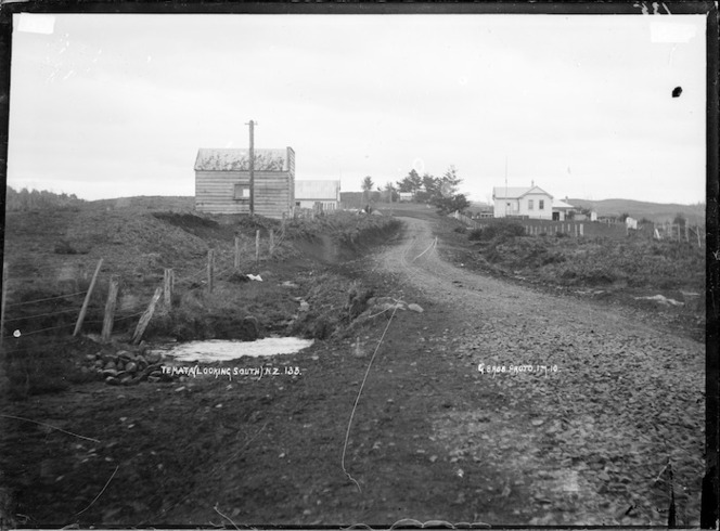 Te Mata, looking south - Photograph taken by Gilmour Brothers