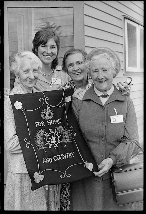 Four members of the Newlands Country Women's Insitute - Photograph taken by Merv Griffiths