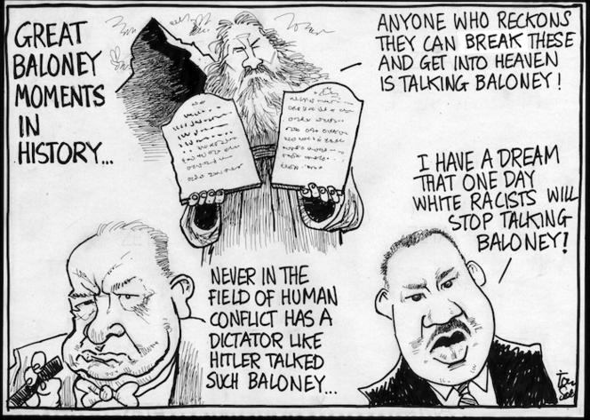 Scott, Thomas, 1947-:Great baloney moments in history. Dominion Post, 1 June 2005.