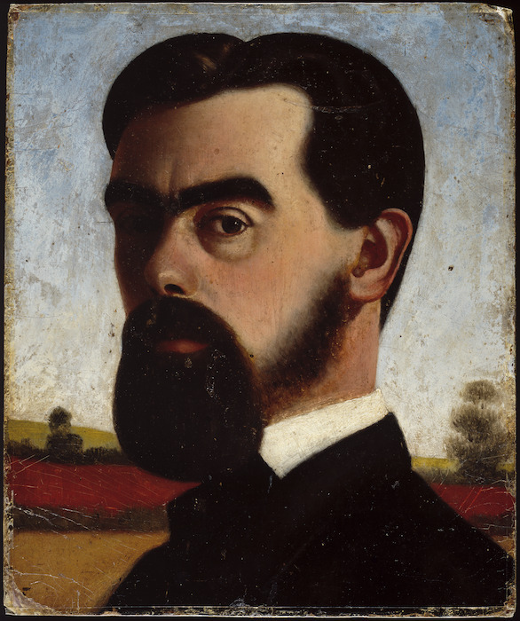 [Butler, Samuel] 1835-1902 :[Self portrait. 1866?]