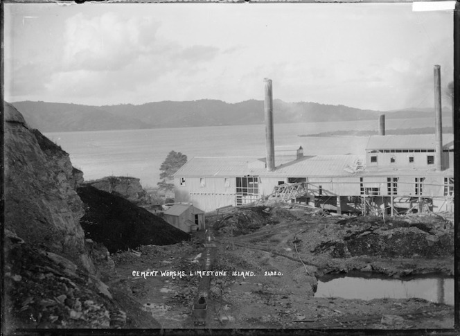 Cement works, Limestone Island, Whangarei Harbour