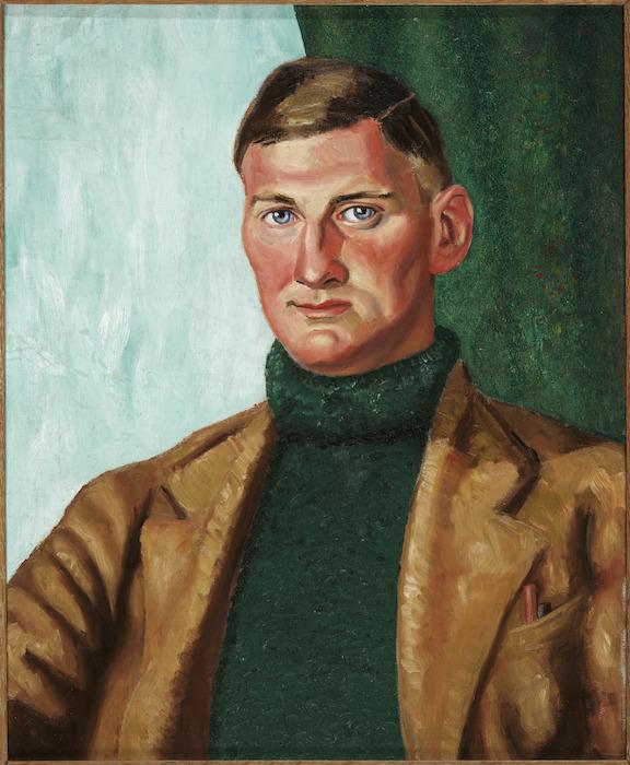 Bensemann, Leo Vernon, 1912-1986 :[Portrait of poet Denis Glover. ca 1937?]