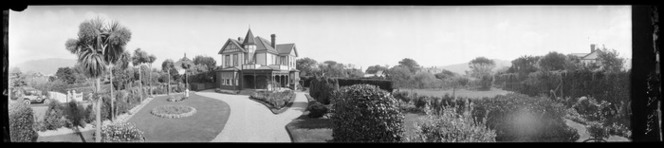 Large two-storied house with turret, Lower Hutt, taken between 1923 and 1926, Ref: Pan-0175