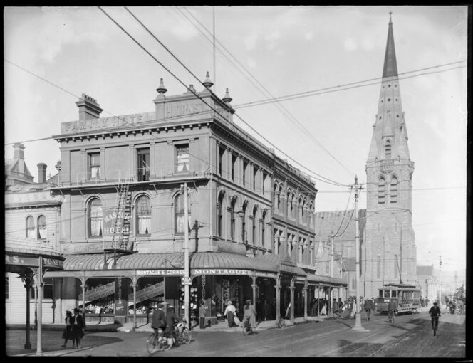 Montague's Corner, Colombo and Gloucester Streets, ca 1880s-1920s