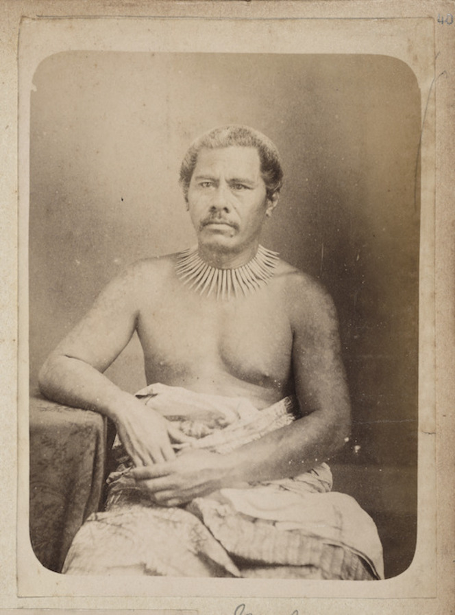 Malietoa Laupepa, one of the contenders for royal status during the Samoan civil wars prior to the German occupation in 1899.