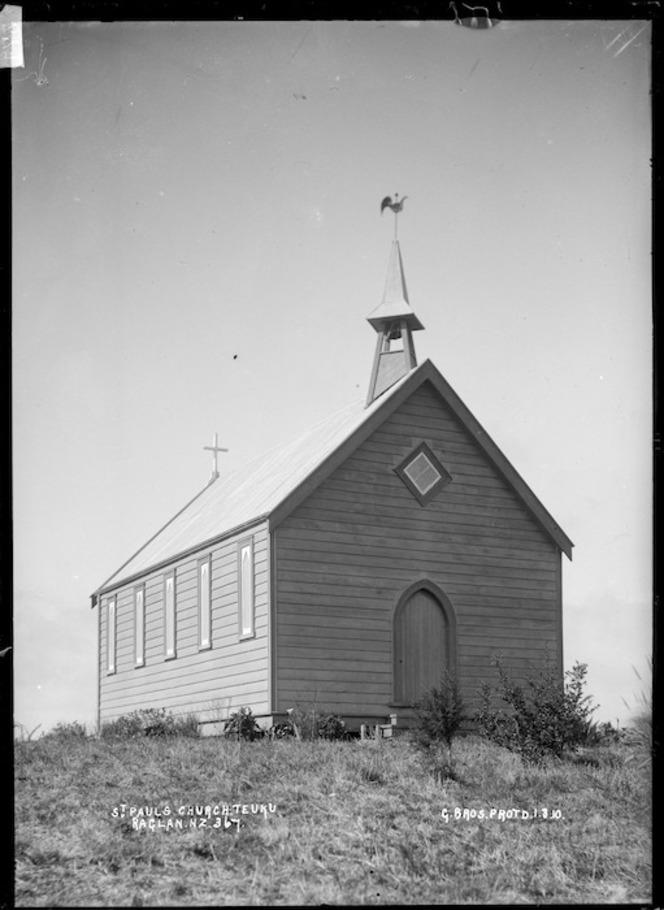 St Paul's Church, Te Uku, Raglan, 1910 - Photograph taken by Gilmour Brothers