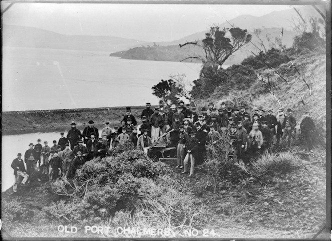 Reclamation of Mussel Bay, between Port Chalmers and Sawyers Bay, 17th September 1873.